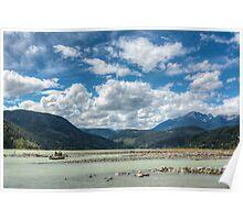 Fishing the mouth of Gun Creek on Carpenter Lake Poster