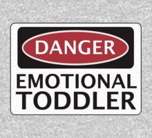 DANGER EMOTIONAL TODDLER FAKE FUNNY SAFETY SIGN SIGNAGE One Piece - Short Sleeve