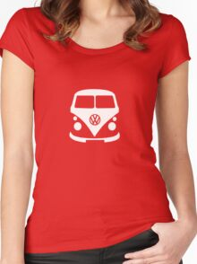 VW Camper Front Women's Fitted Scoop T-Shirt