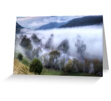 Mist On The Waters- Jingellic NSW/Walwa Victoria - The HDR Experience Greeting Card
