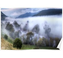 Mist On The Waters- Jingellic NSW/Walwa Victoria - The HDR Experience Poster