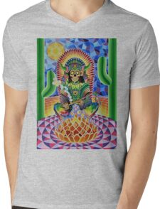 CHANGA WARRIOR Mens V-Neck T-Shirt