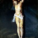 Jesus on the cross after Rubens by Hidemi Tada