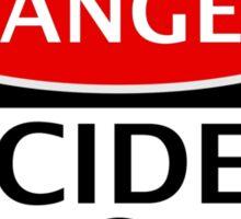 DANGER ACCIDENT PRONE, FAKE FUNNY SAFETY SIGN SIGNAGE Sticker