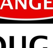 DANGER COUGAR, FAKE FUNNY SAFETY SIGN SIGNAGE Sticker