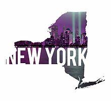 New York Skyline by Daogreer Earth Works