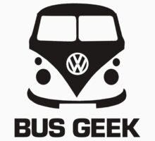 VW Camper Bus Geek Black Baby Tee