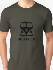 VW Camper Bus Geek Black T-Shirt