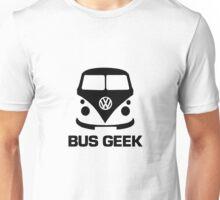 VW Camper Bus Geek Black Unisex T-Shirt