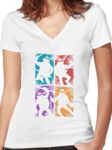 Heroes in a Half Shell Women's Fitted V-Neck T-Shirt