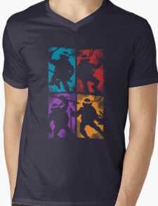 Heroes in a Half Shell Mens V-Neck T-Shirt