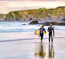 Surfing Zen - Newquay Beach by Mark Tisdale