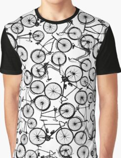 Pile of Black Bicycles Graphic T-Shirt