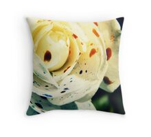 Water-Colour Rose Throw Pillow