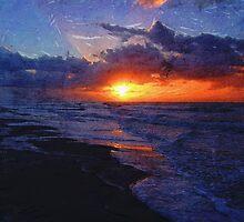 Sunrise Over The Atlantic Ocean by Phil Perkins