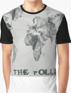 Stop The Pollution World Map Smoke Graphic T-Shirt