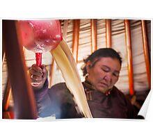Making Suutei tsai (Salted Milk Tea) Poster