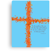 Preaching the Cross Canvas Print