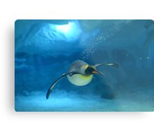 Penguin Blues Metal Print