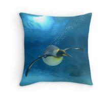 Penguin Blues Throw Pillow