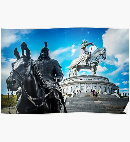 Chinggis Khan and his body guard Poster