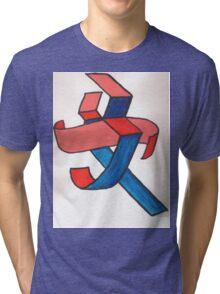 Chinese Femininity  Tri-blend T-Shirt