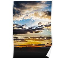 Steppe Sunset Poster