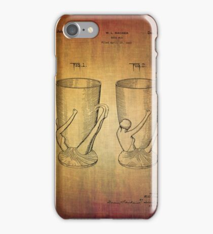 Beer Mugs Patent From 1934 iPhone Case/Skin