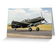 Curtiss P-40B 41-13297 G-CDWH Taxying Greeting Card