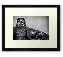 Chinggis Khan Protecting UB Framed Print