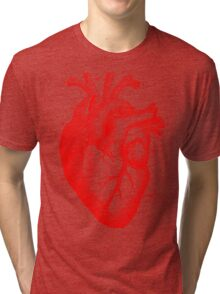 Oversized Anatomical Heart T-Shirt Tri-blend T-Shirt