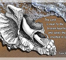 The Lord is Near - Psalm 34:18 by MyArtefacts