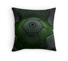 Alien Spacecraft Throw Pillow