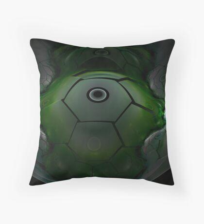 Alien Spacecraft Throw Pillow