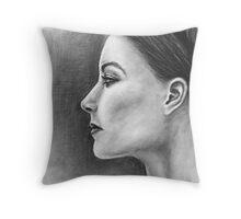 Womans Profile Throw Pillow