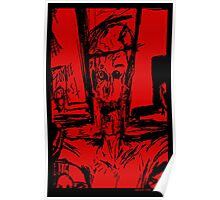 Zombie Christ (In Red) Poster