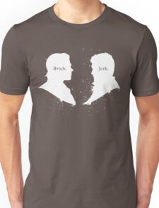 B*tch & Jerk (White) Unisex T-Shirt