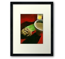 Coffee and Cookies at the Café Framed Print