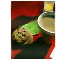Coffee and Cookies at the Café Poster