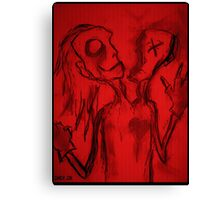 Personality Split Oddity (In Red) Canvas Print