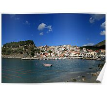 Parga in Epirus, Greece Poster