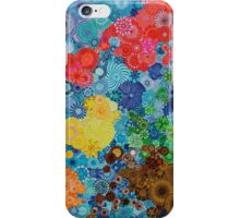 Spirograph world map iPhone Case/Skin