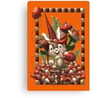 Happy Halloween Rabbit Canvas Print