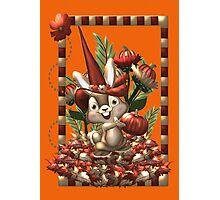Happy Halloween Rabbit Photographic Print