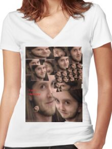 Varg is a swell guy Women's Fitted V-Neck T-Shirt