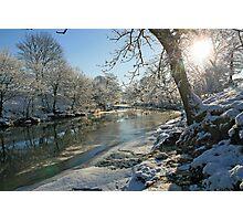 A Frozen River Kent Photographic Print