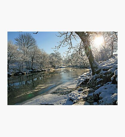 A Frozen River Kent Photographic Print