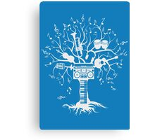 Melody Tree - Light Silhouette Canvas Print