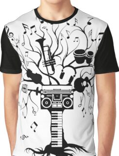 Melody Tree - Dark Silhouette Graphic T-Shirt