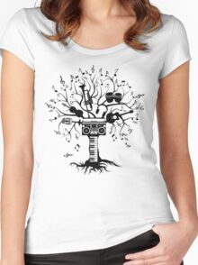 Melody Tree - Dark Silhouette Women's Fitted Scoop T-Shirt
